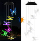 Solar LED Wind Chime Bee Butterfly Color Changing Garden Room Decoration Lights