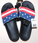 New US Flag, Calif Rep, Mens Contoured Footbed Slip Ons $16.99 Free Shipping
