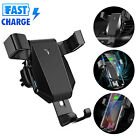 Automatic Clamping Wireless Car Charger Fast Charging Mount For iPhone 8 Samsung
