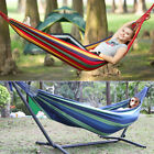 Double Hammock with Frame Luxury Free Standing Swing Seat for Outdoor or Garden
