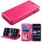 WALLET LEATHER ACCESSORY SKIN COVER CASE FOR ZTE Obsidian / Z820 PHONE NEW