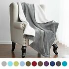 Sherpa Blanket Throw Fuzzy Bed Throws Fleece Reversible Blanket for Sofa image