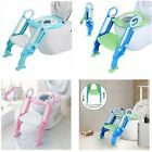 3 Colors Kids Potty Training Toddler Toilet Chair Seat with Step Stool Ladder US image