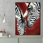 Zebra print animal abstract Canvas painting wall pictures for living room decor