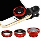 3 in 1 Mobile Phone Camera Lens Fish Eye Angle Macro Clip Set For iPhone Huawei