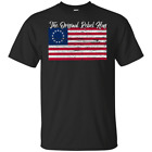 Betsy Ross Original Rebel USA American Flag T-Shirt Short Sleeve S 2XL