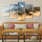 5pcs Wall Art Pictures Canvas Paintings Wolf home Decoration for living room