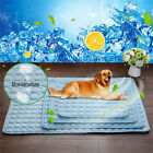 Pet Cooling Mat Dog Cat Heat Relief Bed Summer Cushion Pad Blue/ Pink UK