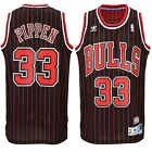 Scottie Pippen #33 Chicago Bulls Pinstripe Throwback Classic Swingman Jersey NEW on eBay