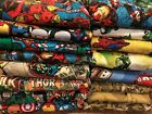 handmade 100 cotton front  flannel back baby/toddler blankets boys group 4