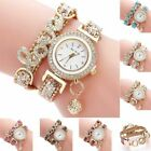 Women's Watch Crystal Alloy Analog Love Quartz Bracelet Dress Wrist Watches Gift image