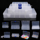 8-36 Compartment Storage Box Plastic Jewelry Organizer Container Case Bead Craft