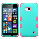 For Microsoft Nokia Lumia 640 Impact Tuff Armor Hybrid Dual Layer Case Cover