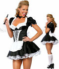 Ladies French Maid Waitress Rocky Horror Fancy Dress Costume Hen Party Halloween