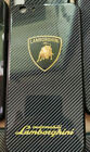 Lamborghini iPhone Case Blue Tempered Glass Mix Carbon Fiber 7,8+,X,XR,XS,11 Pro