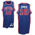 Dennis Rodman #10 Detroit Pistons Retro Classic Blue Red Swingman Jersey on eBay