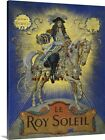 Solid-Faced Canvas Print Wall Art entitled Book Cover of Le Roy Soleil by