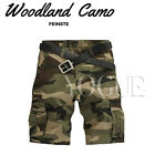 Military CAMO CARGO SHORTS Camouflage BERMUDA Work Army Loose Baggy Pants Men's