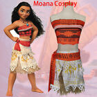 New Moana Disney Costume Girls Princess Fancy Cosplay Dress Kid Children Outfits