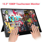 Touch Screen Monitor HDMI IPS Display Portable Monitor USB Built In Speakers NEW