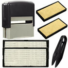 DIY Personalised Self-Inking Rubber Stamp Kit Customized Business Address 3color