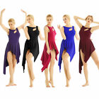 Women Adult Ballet Dance Dress Leotard Irregular Hem Skirt Dancewear Costumes