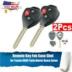 2Pcs for 2005-2009 Scion tc xA xb xd Remote Key Fob Replacement Case Shell Blade on eBay