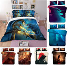 3PCS Godzilla Boys Bedding Set Comforter Quilt Cover Pillowcases Duvet Covers image