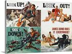 Solid-Faced Canvas Print Wall Art entitled Thunderball - Vintage Movie Poster $191.99 USD on eBay