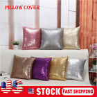 Glitter Sequins Pillow Cover Case Waist Throw Sofa Cushion Cases Home Decoration image