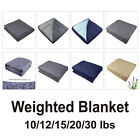 Premium Weighted Blanket Sleep Therapy Anxiety Gravity Blanket 10lbs-30lbs image