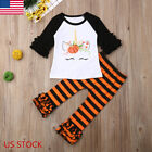 Toddler Baby Girls Clothes Long Pants Tops Halloween Shirt+Leggings Outfits Set