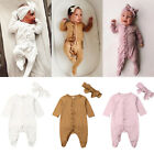 Kyпить Newborn Baby Girl Boy Floral Romper Bodysuit Jumpsuit Headband Outfits Clothes на еВаy.соm