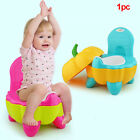 Cute Portable Cartoon Training Potty Chair Folding Toddler Pumpkin Plastic Baby image