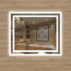LED Bathroom Mirror Lights Touch Switch with Demister Pad Mirrors Wall Mounted