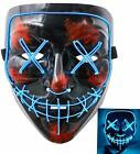 Kyпить Halloween Mask LED Light Up Funny Masks The Purge Movie Scary Festival  на еВаy.соm