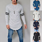 Fashion Men's Slim Fit O-Neck Long Sleeve Muscle Tee T-shirt Casual Tops Blouse image
