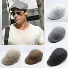 Mens Womens Flat Cap Vintage Ivy Gatsby Hat Country Newsboy Golf Driving Solid