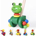 Wooden Pull Toy Push And Pull Animal Pull Along Walking Toy For Baby Toddler