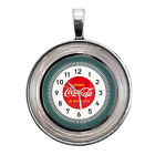 Coca-Cola Diner Clock Image Key Ring Necklace Cufflinks Tie Clip Ring Earrings $11.95  on eBay