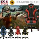 CLIENSY Gaming Chair Racing Recliner Bucket Seat Computer Desk Footrest Office..