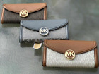 Michael Kors Fulton Flap Large Continental Leather  MK Signature Wallet Clutch
