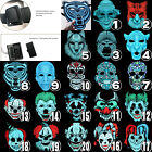 Sound Reactive LED Light Up Mask Dance Rave EDM Plur Fancy Halloween Cospaly US