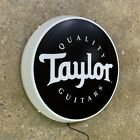 TAYLOR QUALITY GUITARS Light up LED wall sign man cave music instrument ACOUSTIC for sale