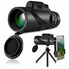 Super Telephoto Lense Portable Monocular Telescope w/Tripod + Mobile Phone Clip