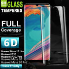 Huawei P20 P30 Mate 30 Pro 20 Lite Full Curved Tempered Glass Screen Protector