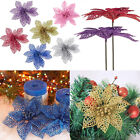 6inch Artificial Poinsettia Flowers Wedding Party Christmas Xmas Tree Decoration