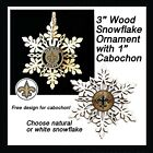FREE DESIGN> NEW ORLEANS SAINTS -Snowflake Ornament, 3 designs, Natural or White $5.99 USD on eBay