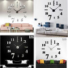 New Modern Analog DIY Wall Clock 3D Mirror Surface Sticker Home Art Decor