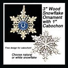 FREE DESIGN > INDIANAPOLIS COLTS - Snowflake Ornament, Natural or White $2.99 USD on eBay
